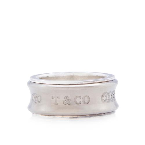 Tiffany & Co. Sterling Silver Titanium 1837 Ring - Size 5