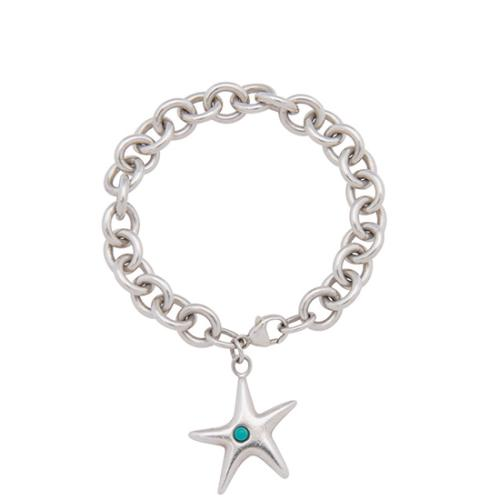 Tiffany & Co. Sterling Silver Turquoise Starfish Bracelet