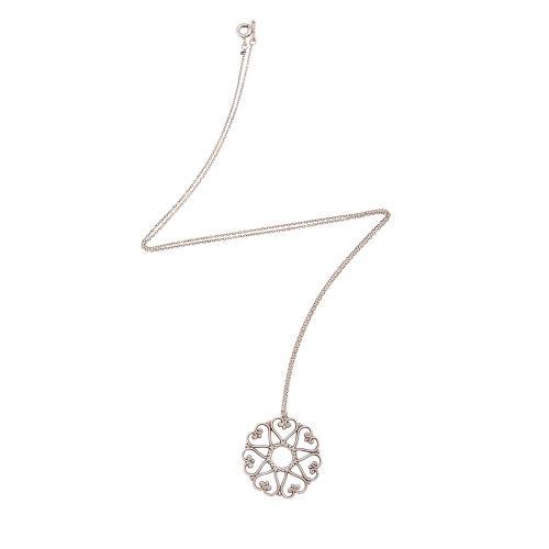 Tiffany & Co. Sterling Silver Venezia Goldoni Medallion Necklace