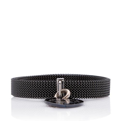Tiffany & Co. Titanium Somerset Return To Tiffany Heart Tag Bracelet