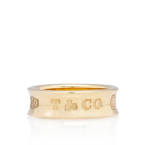 Tiffany & Co. Vintage 18kt Yellow Gold 1837 Narrow Ring - Size 4 1/2