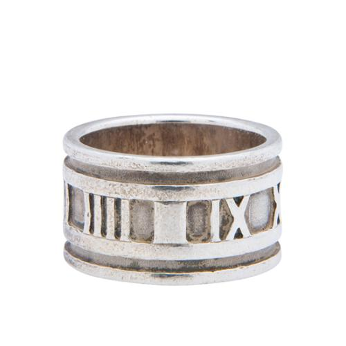 Tiffany & Co. Vintage Sterling Silver Atlas Wide Ring - Size 7
