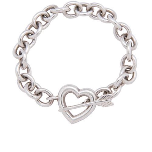 Tiffany & Co. Vintage Sterling Silver Heart Arrow Bracelet