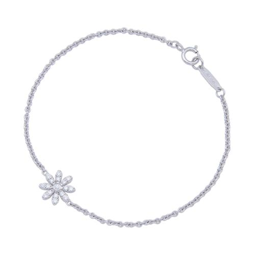 Tiffany & Co.18kt White Gold Diamond Metro Daisy Bracelet