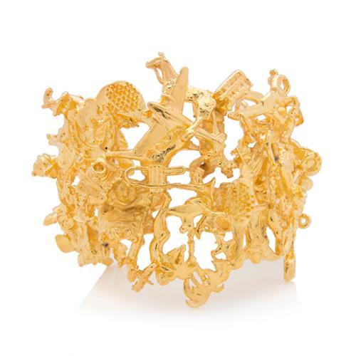 Tom Binns 22kt Gold-Plated Brass Charmed Life Cuff
