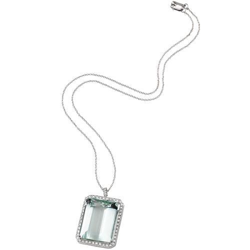 Vera Wang Green Beryl Charm Necklace