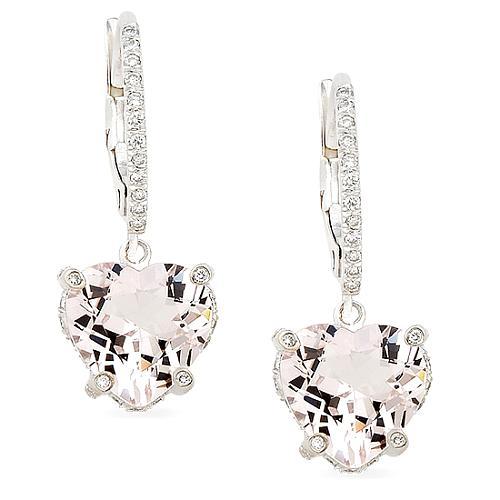 Vera Wang Morganite Heart Earrings