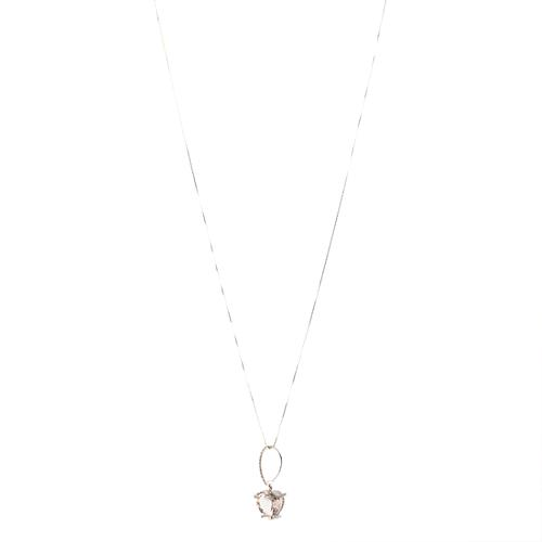 Vera Wang Morganite Heart Pendant Necklace