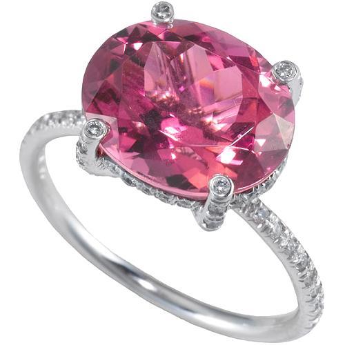 Vera Wang Twist Wire Pink Tourmaline Ring