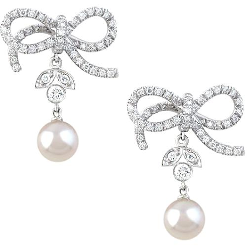 Vera Wang Victorian Bow Earrings - FINAL SALE