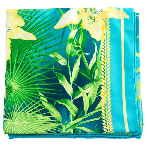 Versace Palm Tree Square Silk Scarf