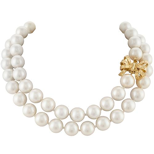 Kate Spade Pearl Bow Necklace: Kate Spade Pearl & Bow Necklace