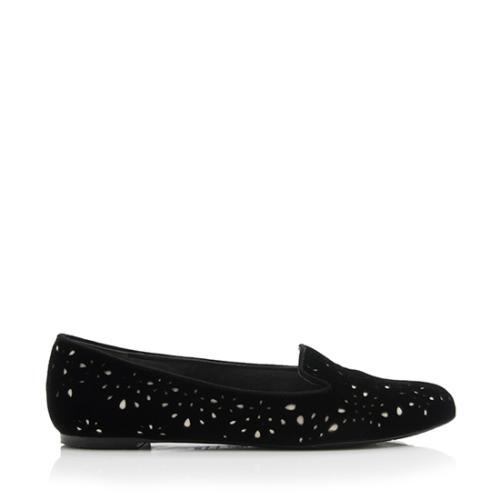 Alexander McQueen Velvet Lasercut Smoking Slippers - Size 8.5 / 38.5