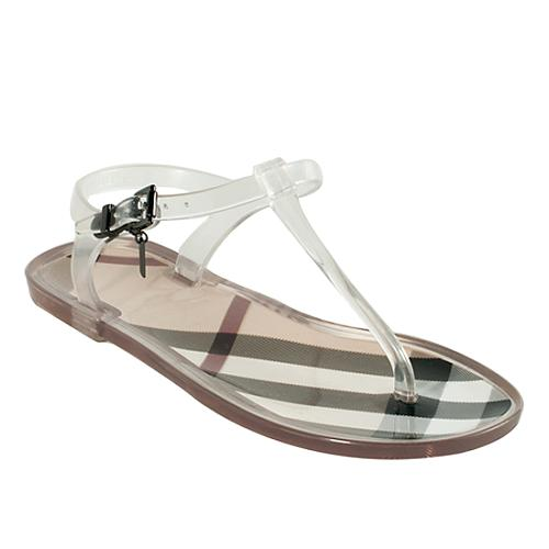 ee8b1acea89 Burberry-Nova-Check-Jelly-Thong-Sandals --Size-6-36 50483 left angle large 1.jpg