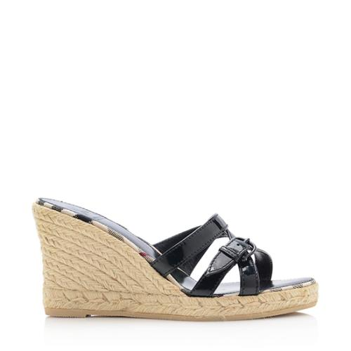 Burberry Patent Leather Espadrille Wedges discount newest cheap sale explore for nice cheap price low shipping visit new cheap price RKT0D9DB