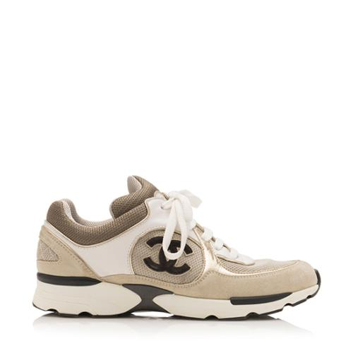 Chanel CC Sneakers - Size 7.5 / 38