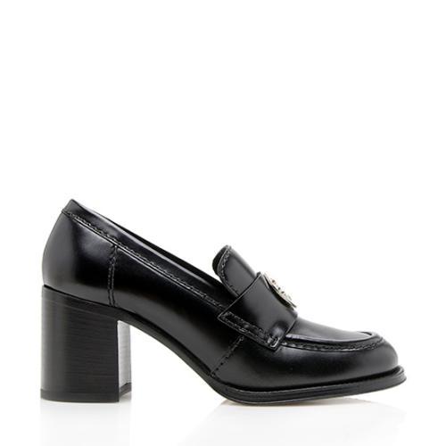 Chanel Calfskin Clover Loafer Pumps - Size 8.5 / 38.5