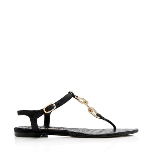 Chanel Chain Link T-Strap Sandals - Size 6.5 / 36.5