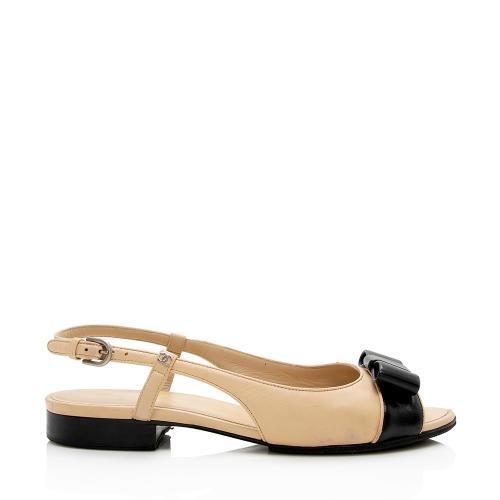 Chanel Lambskin Bow Sling Back Sandals - Size 9 C / 39 C - FINAL SALE