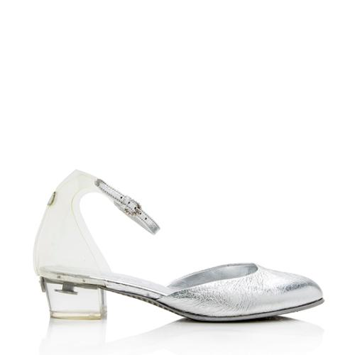 Chanel Metallic Leather PVC Pumps - Size 7.5 / 37.5