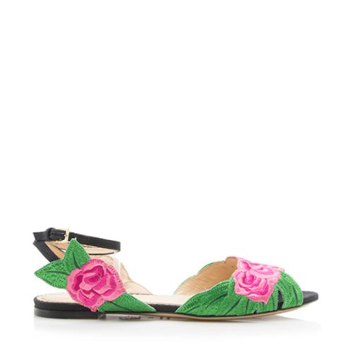 Charlotte Olympia Embroidered Rosa Sandals - Size 5.5 / 36 - FINAL SALE