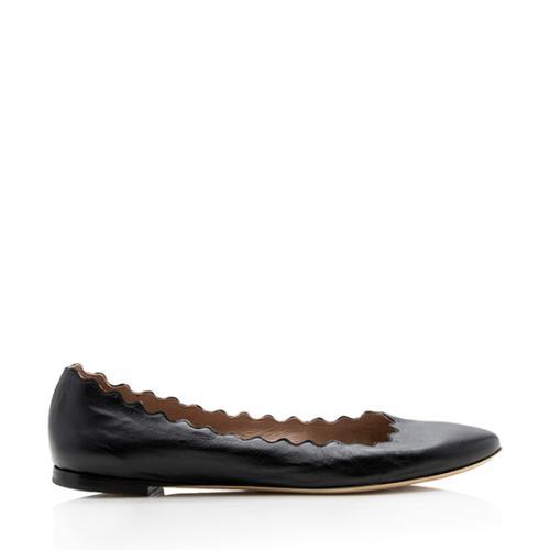 Chloe Leather Lauren Flats - Size 10.5 / 40.5