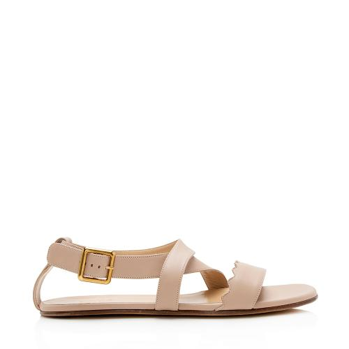 Chloe Nappa Leather Scalloped Lettonia Sandals - Size 9 / 39