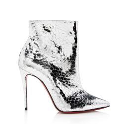 Christian Louboutin Calfskin Craquele So Kate Booties - Size 7.5 / 37.5