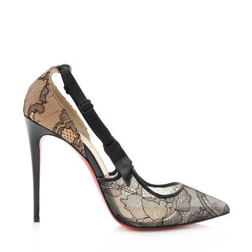 Christian Louboutin Lace Hot Jeanbi Pumps - Size 7.5 / 37.5