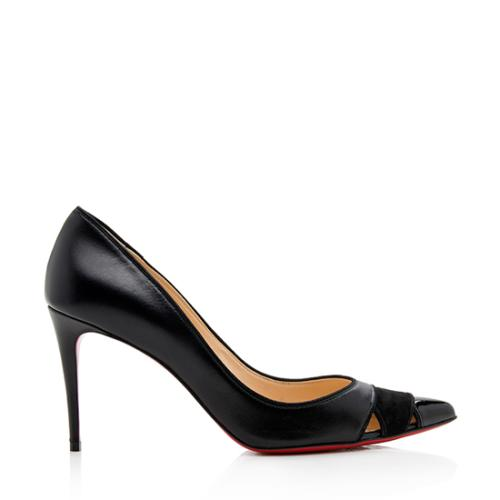 Christian Louboutin Leather Biblio Pumps - Size 8 / 38
