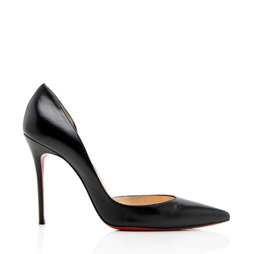 Christian Louboutin Leather Iriza Half D'orsay Pumps - Size 9.5 / 39.5