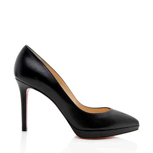 Christian Louboutin Leather Pigalle Plato Pumps - Size 9.5 / 39.5