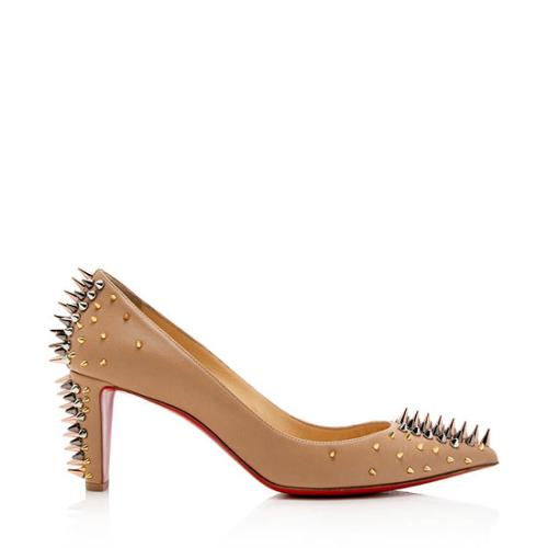 Christian Louboutin Leather Studded Dinosa Pumps - Size 11 / 41