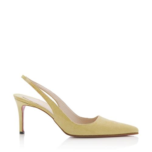 Christian Louboutin Lizard Leather Slingback Pumps cheap sale Inexpensive discount find great sale new styles 2014 new sale online best deals x1yPcqB