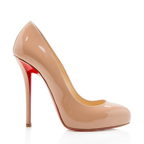 Christian Louboutin Patent Leather Argotik Pumps - Size 7 / 37