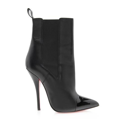 Christian Louboutin Patent Leather Cap Toe Tucson Boots - Size 7 / 37
