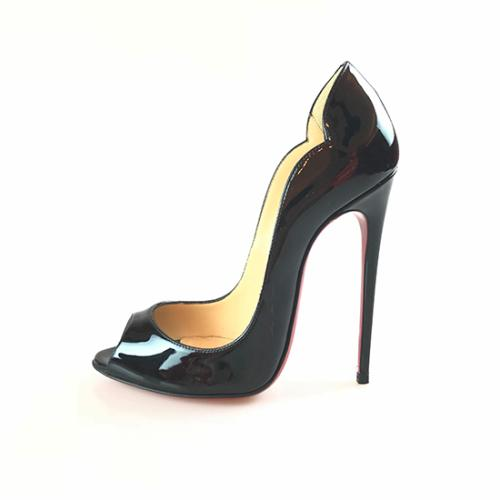 Christian Louboutin Patent Leather Hot Wave Pumps - Size 6 / 36