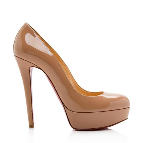 Christian Louboutin Patent Leather New Simple Platform Pumps - Size 7.5 / 37.5