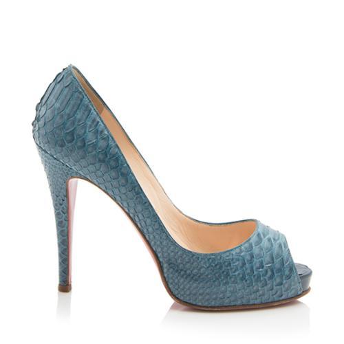 b263b613c32 ... italy christian louboutin python new very prive peep toe pumps size 8  38 39280 624ae