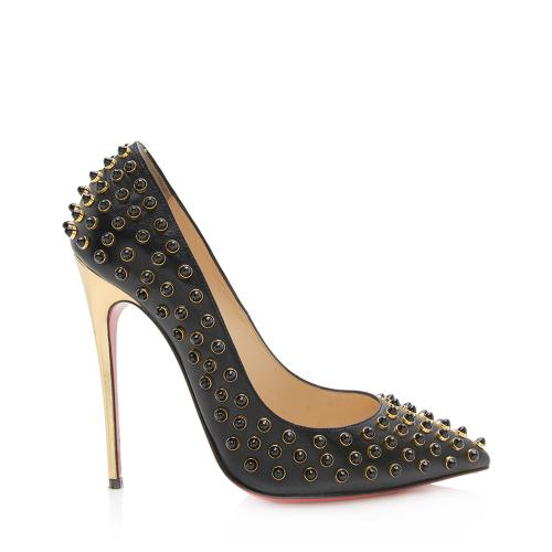 Christian Louboutin Studded Follies Cabo Pumps - Size 7 / 37