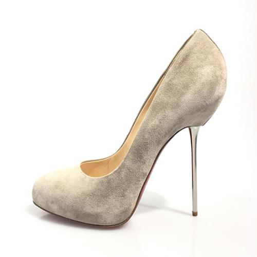 Christian Louboutin Suede Big Lips Pumps - Size 11 / 41