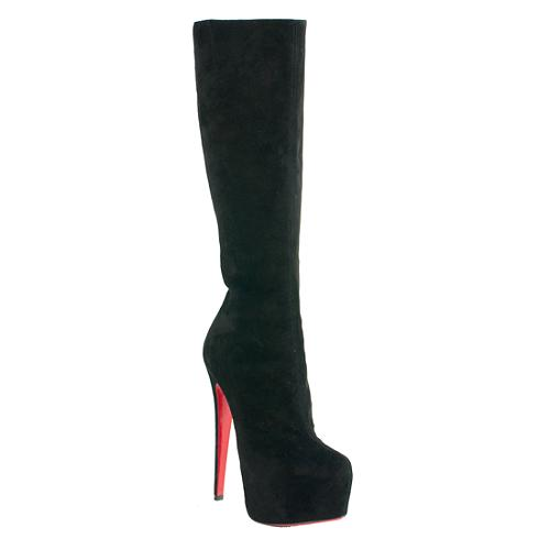 new styles bda9a 5ba88 Christian Louboutin Suede 'Daf Boot' Platform Boots - Size 5.5 / 36.5