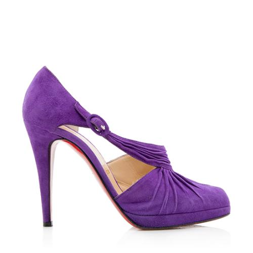 Christian Louboutin Suede Pumps - Size 7.5 / 37.5
