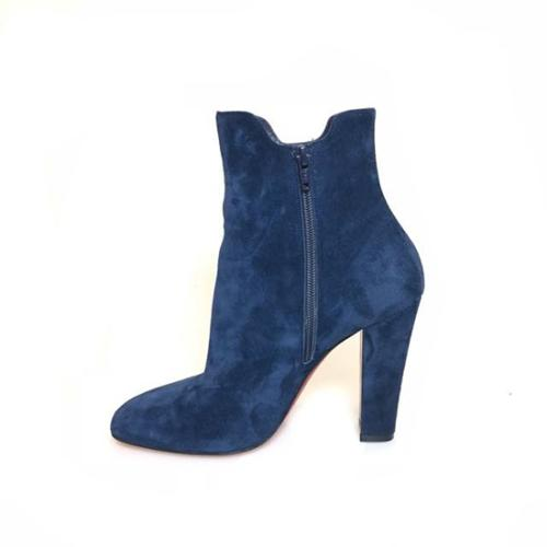 Christian Louboutin Suede Tiagada Ankle Boots - Size 10 / 40