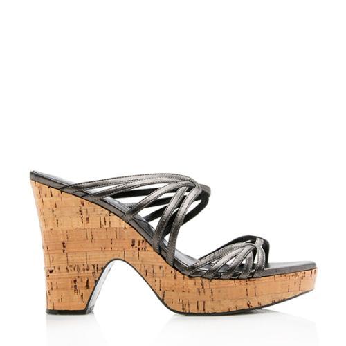 Dior Leather Cork Strappy Platform Sandal - Size 10 / 40