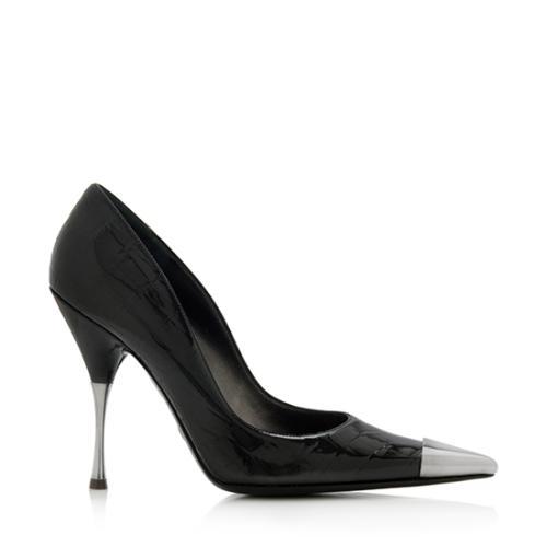 Dolce & Gabbana Leather Cap-Toe Pumps outlet clearance txp5Hml