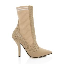 Fendi Perforated Leather Sock Boots - Size 9 / 39