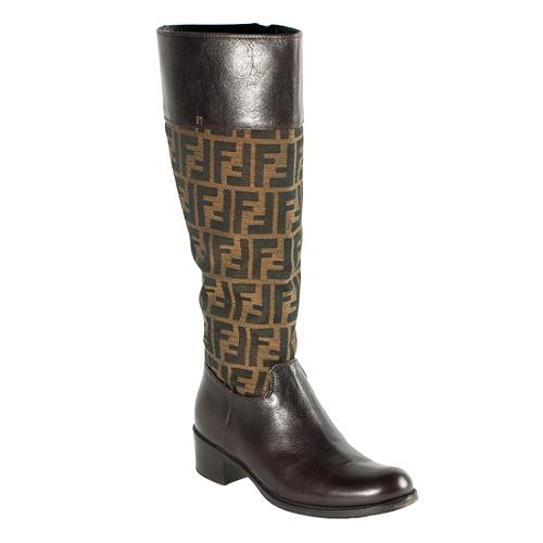 Fendi Zucca Leather Boots sneakernews sale online fake cheap price cheap outlet store jgmgV1E0a