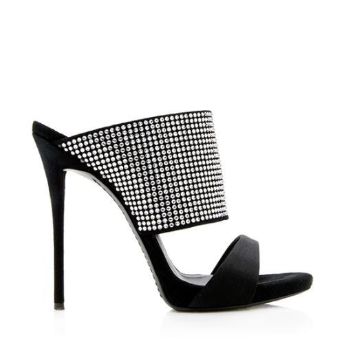 Giuseppe Zanotti Crystal Embellished Slide Sandals - Size 6 / 36