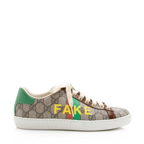 Gucci GG Supreme Ace Fake/Not Sneakers - Size 6 / 36